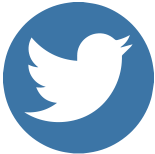 Twitter logo, link to website